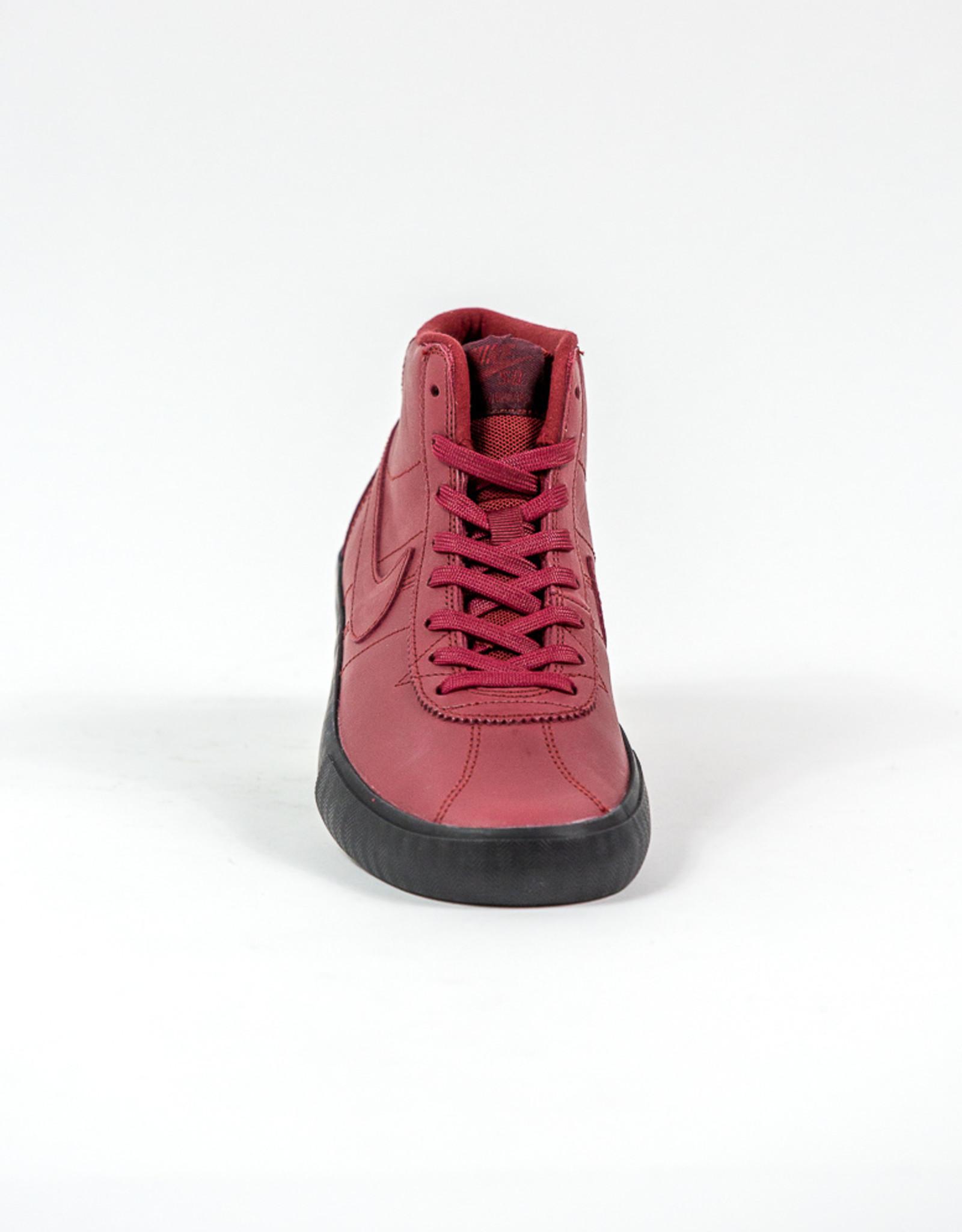 NIKE NIKE SB BRUIN HI ISO - (ORANGE LABEL) TEAM RED/NIGHT MAROON