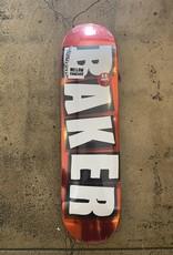 BAKER BRAND LOGO RED FOIL DECK - 8.0