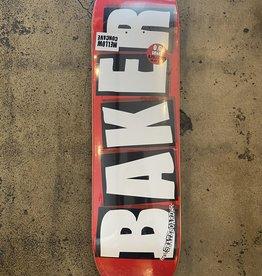 BAKER BRAND LOGO WHITE DECK - 8.25