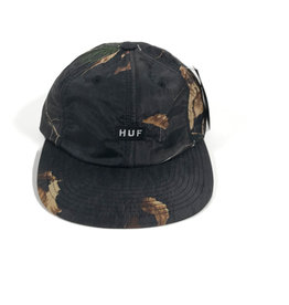 HUF REAL TREE 6 PANEL HAT - REAL TREE BLACK