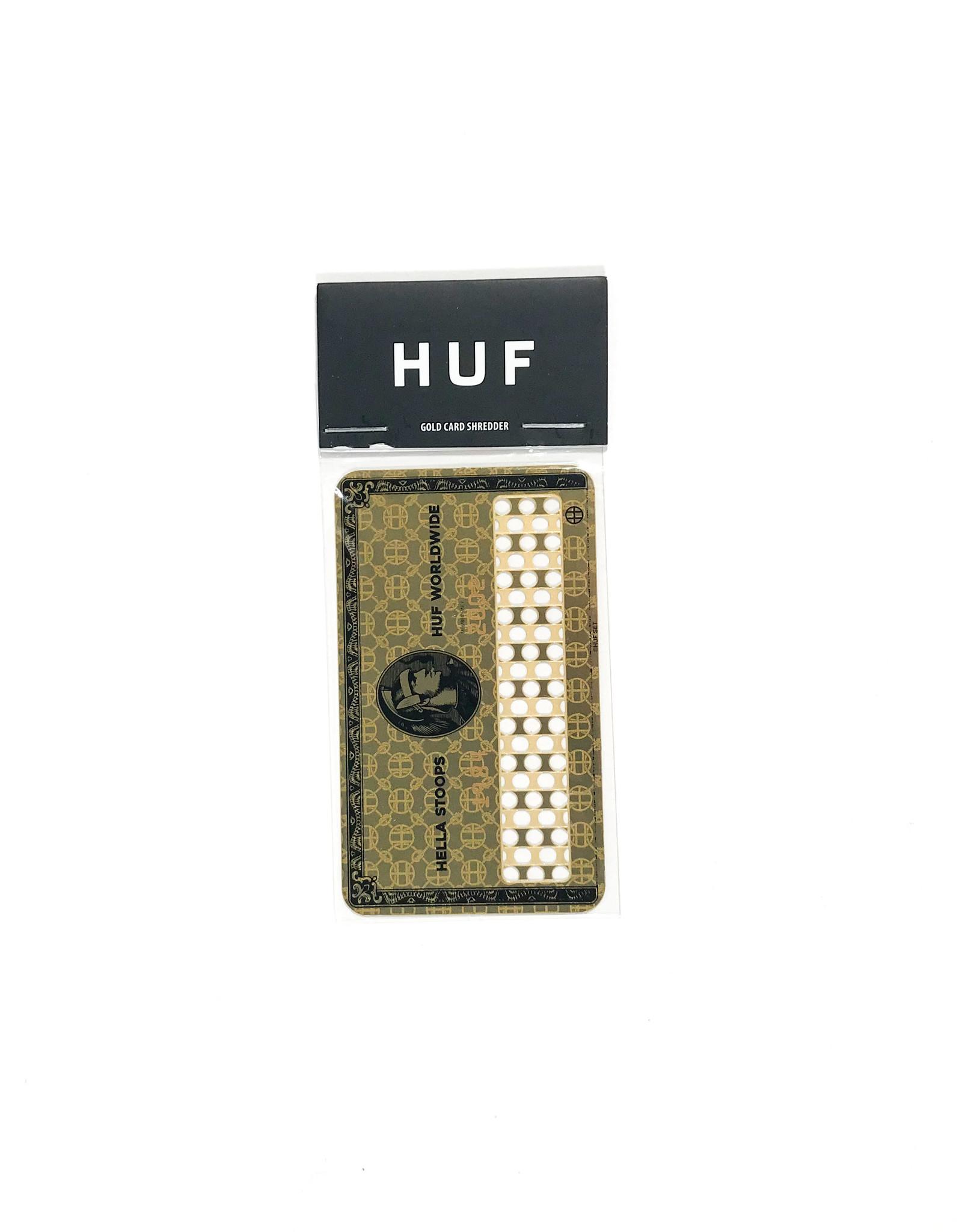 HUF CARD SHREDDER - GOLD