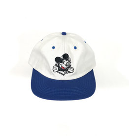 KINGSWELL KINGSWELL MOUSE RIPPER 6 PANEL HAT - WHITE/HOMETOWN BLUE