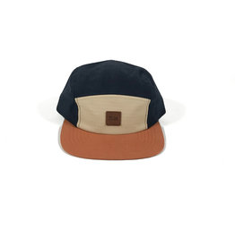 BRIXTON BRIXTON STITH LP CAMPER HAT - GRAVEL/AMBER WASHED NAVY