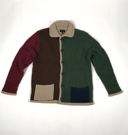 BRIXTON BRIXTON POWELL CARDIGAN SWEATER -  MULTI