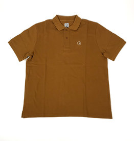 POLAR PIQUE S/S POLO TEE - GOLDEN BROWN