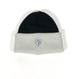 POLAR DOUBLE FOLD MERINO BEANIE - BLACK/WHITE