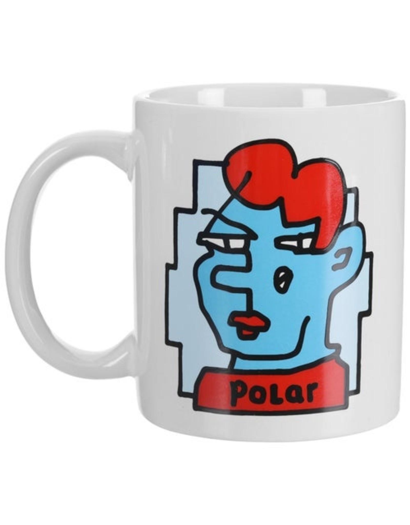 POLAR DOODLE FACE COFFEE MUG