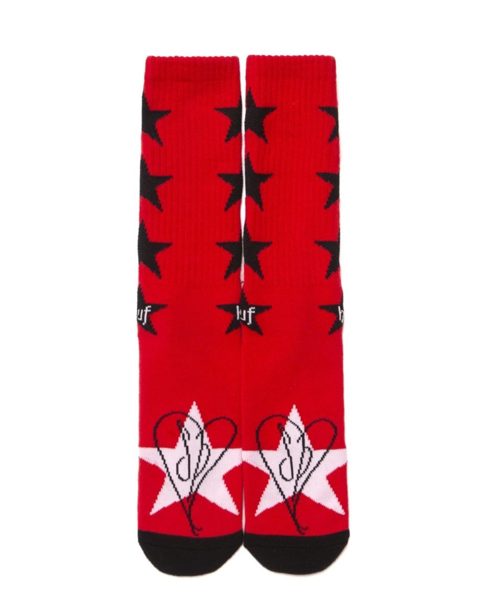 HUF STARLA SOCK - RED