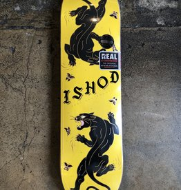 REAL SKATEBOARDS REAL ISHOD ISHOD CATSCRATCH YELLOW DECK - 8.25