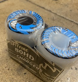 SPITFIRE 80HD CONICAL CLEAR CHARGER WHEEL BLUE - 56MM