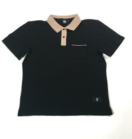 FORMER FORMER UNIFORM S/S POLO SHIRT - BLACK