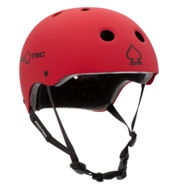 PRO-TEC CLASSIC CERTIFIED MATTE RED HELMET  - MEDIUM