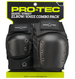 PRO-TEC STREET KNEE/ELBOW PAD SET - BLACK