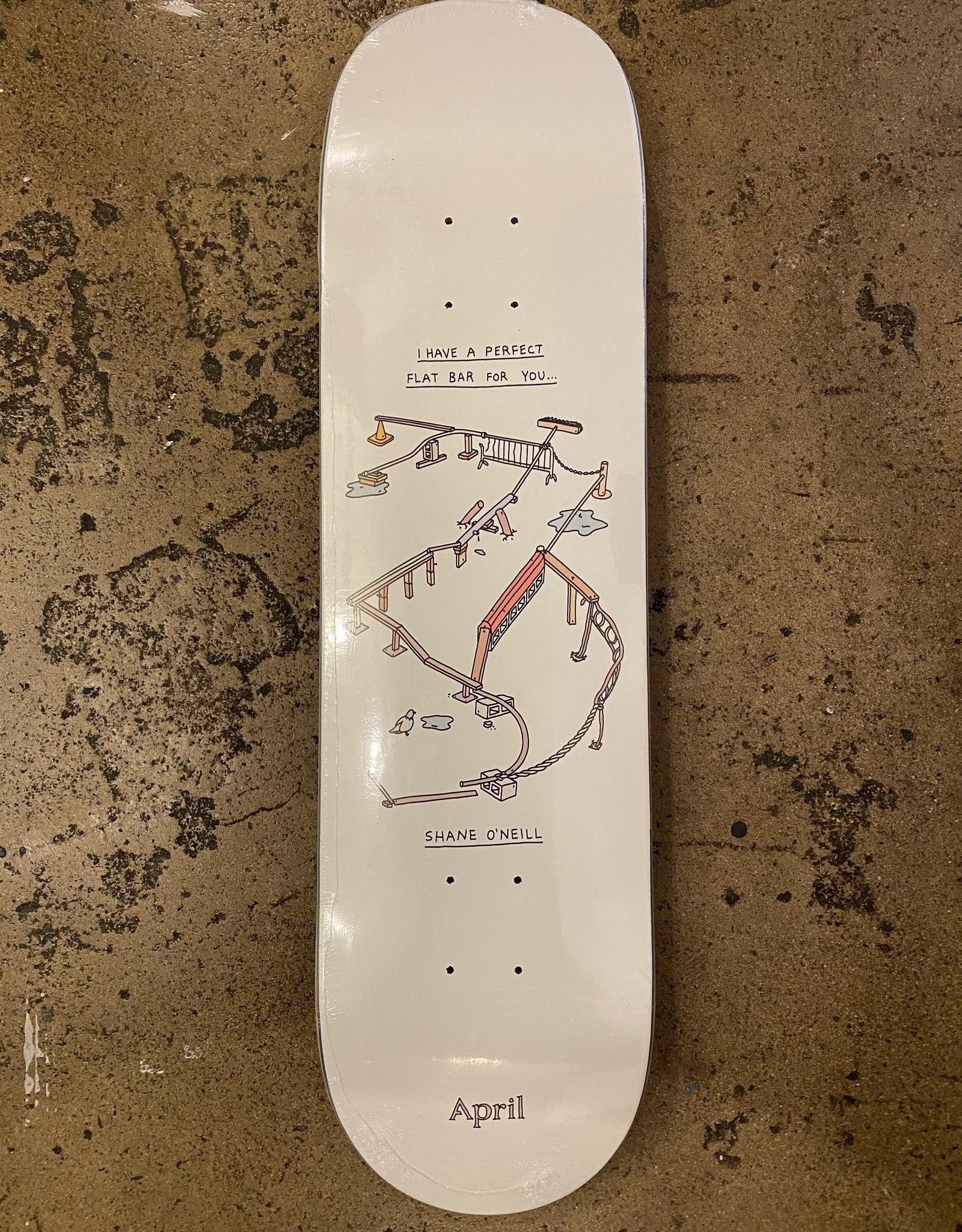 APRIL SKATEBOARDS APRIL SKATEBOARDS SHANE FLAT BAR DECK - 8.25
