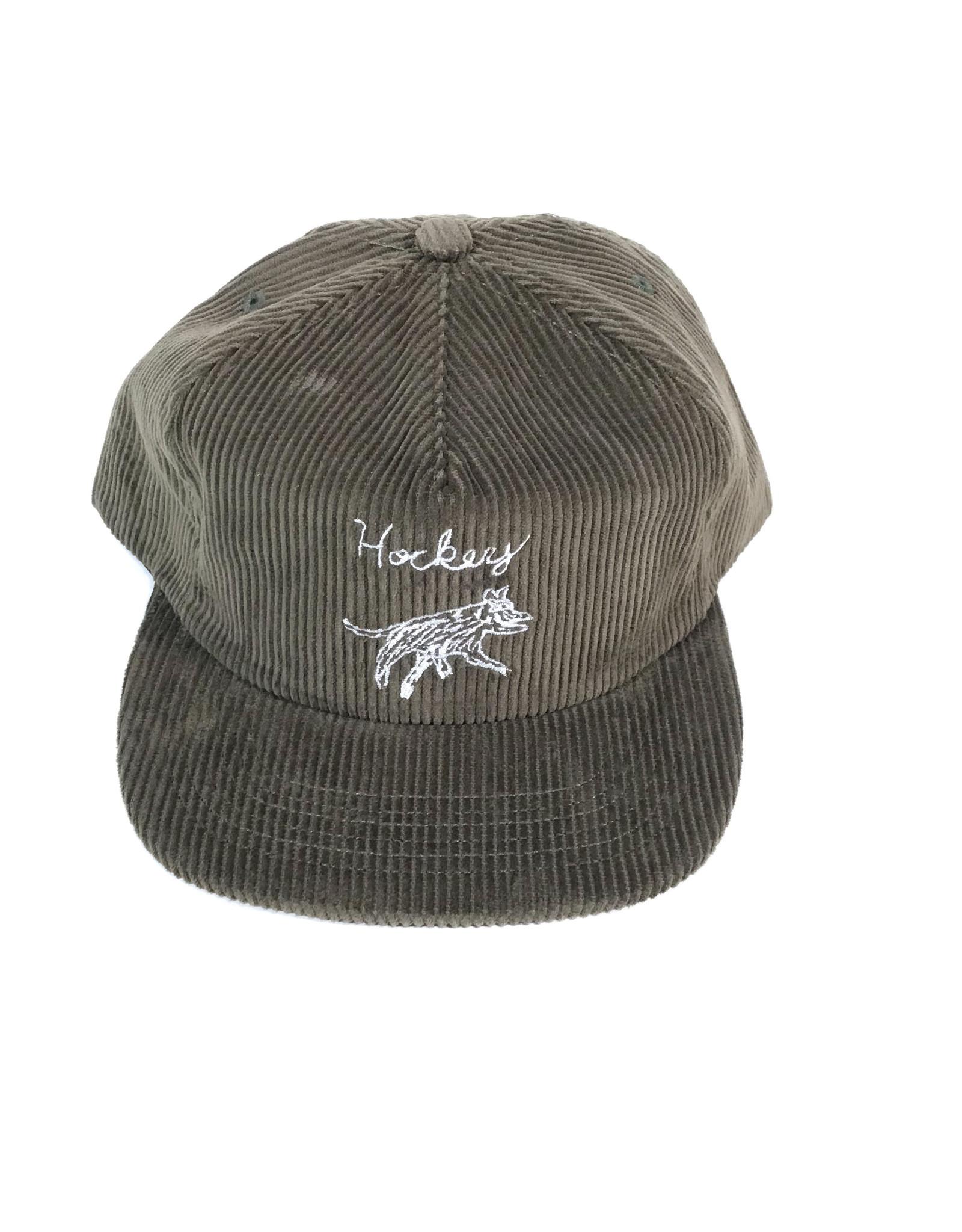 HOCKEY DOG 6 PANEL CORDUROY HAT - (ALL COLORS)
