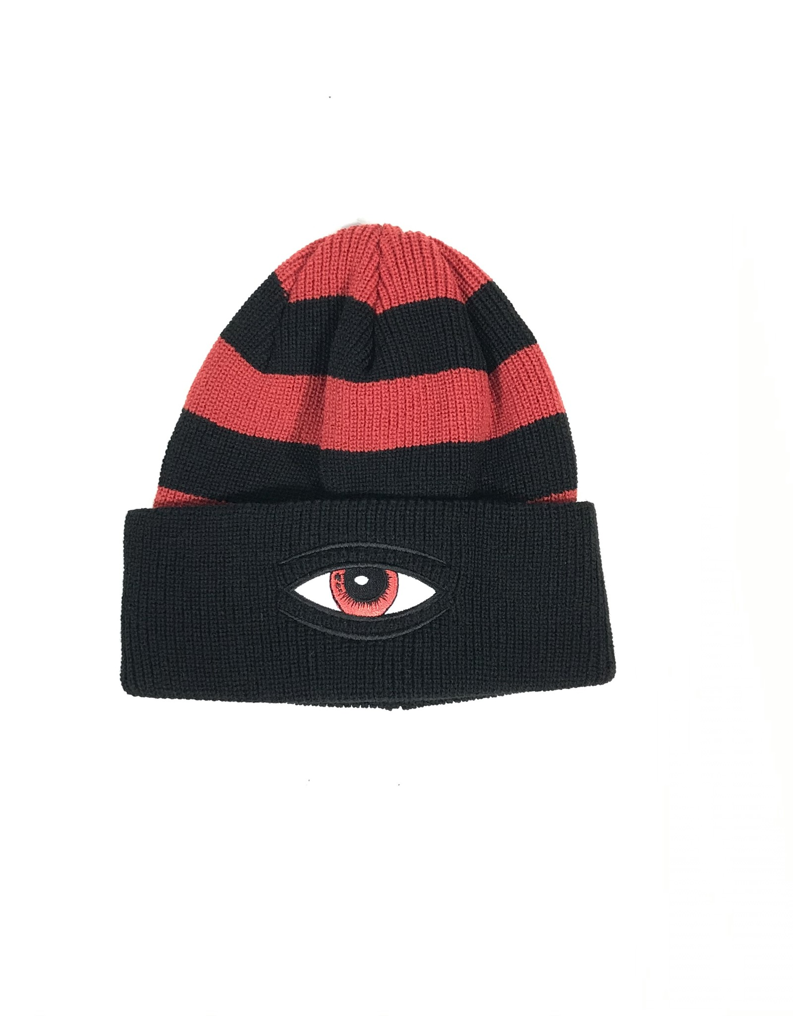 TOY MACHINE EYE STRIPE DOCK BEANIE - BLACK