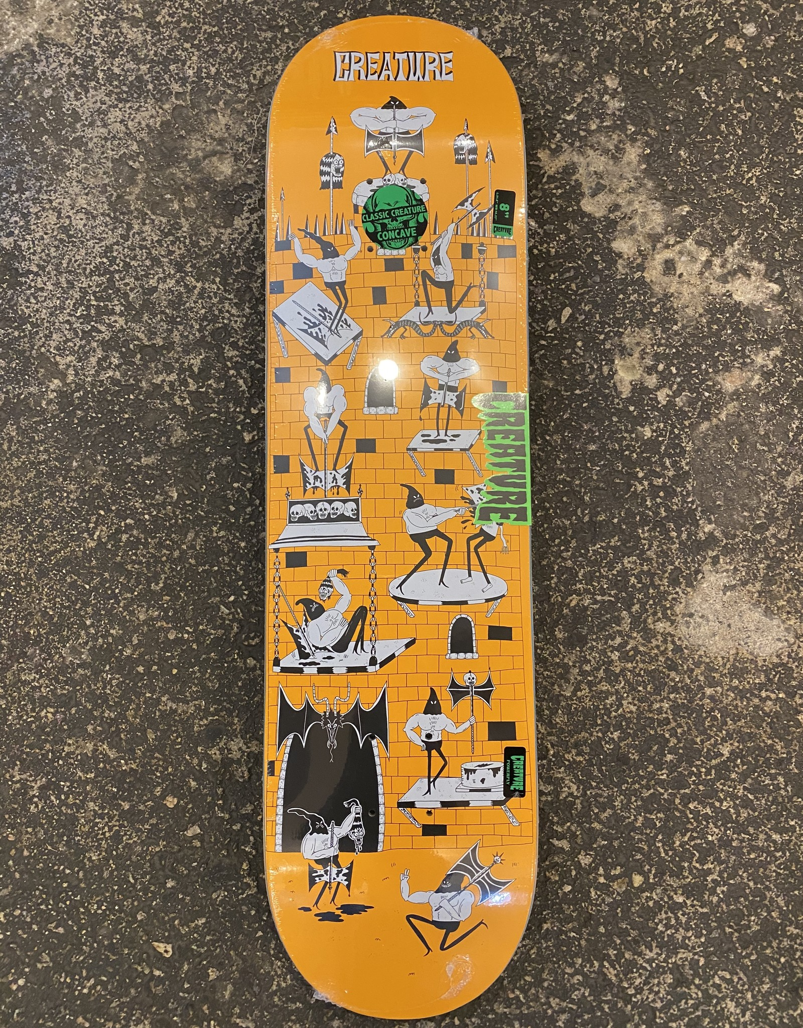 CREATURE CREATURE SKATEBORDS FREE FOR ALL POWERPLY DECK - 8.0