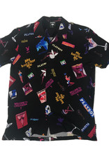 HUF PLAYBOY COLLAGE S/S BUTTON UP - BLACK