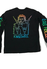 KINGSWELL KINGSWELL GONZ L/S TEE - BLACK