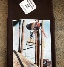 KINGSWELL KINGSWELL X TOBIN YELLAND JASON LEE S/S TEE - CHOCOLATE BROWN