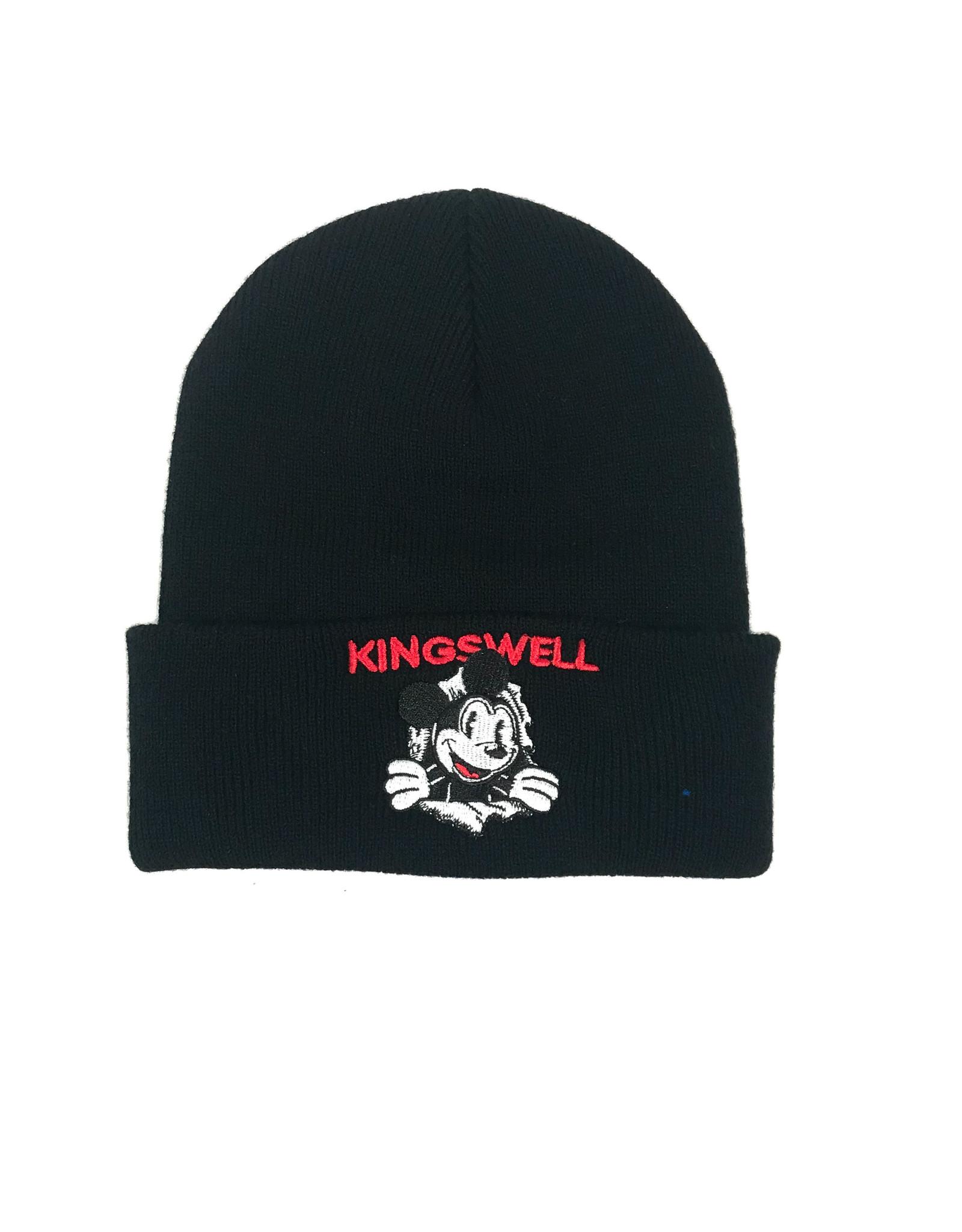 KINGSWELL KINGSWELL MOUSE RIPPER BEANIE - BLACK