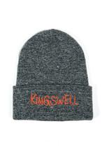 KINGSWELL KINGSWELL GONZ LOGO BEANIE  - SPECKLED BLACK / WHITE