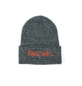 KINGSWELL KINGSWELL GONZ LOGO BEANIE  - SPECKLED BLACK / WHITE