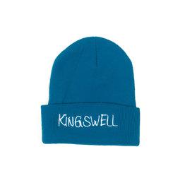 KINGSWELL KINGSWELL GONZ LOGO BEANIE - CYAN