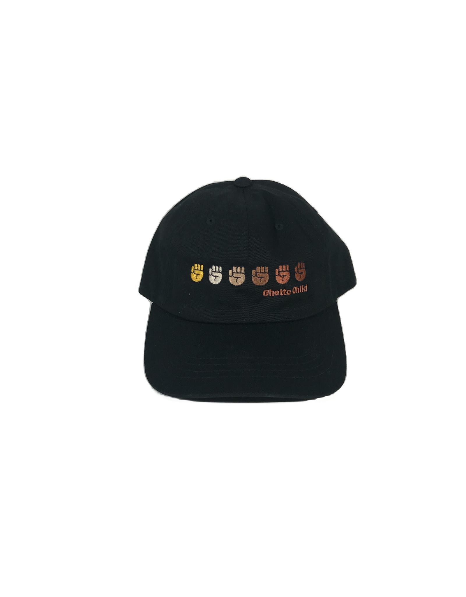 GHETTO CHILD GHETTO CHILD UNITY DAD HAT - BLACK