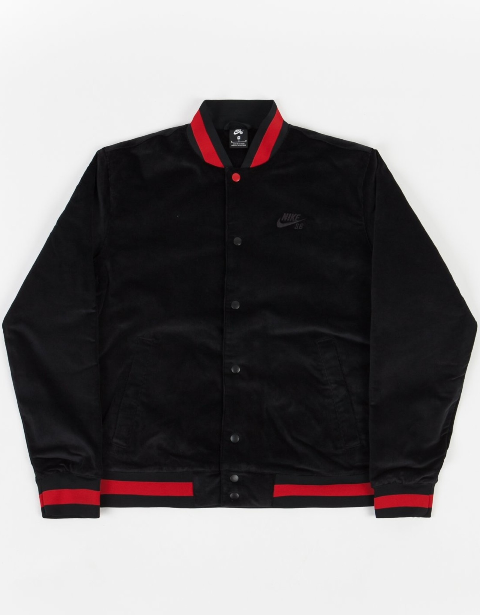 NIKE NIKE SB CORDUROY SKATE BOMBER JACKET -  BLACK/BLACK/UNIVERSITY RED/BLACK