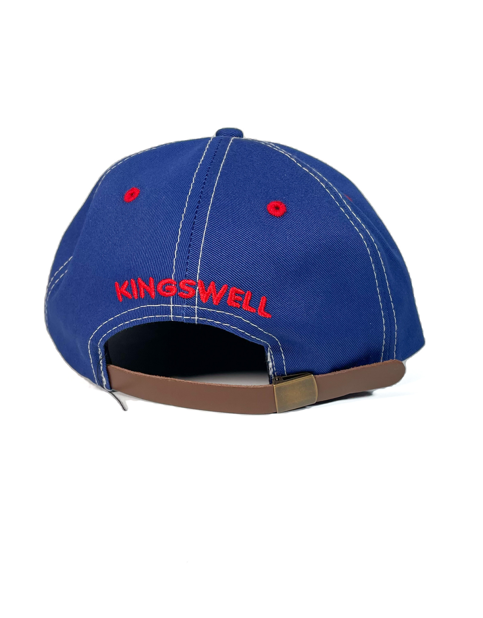 KINGSWELL KINGSWELL MOUSE RIPPER 6 PANEL HAT - BLUE STITCH