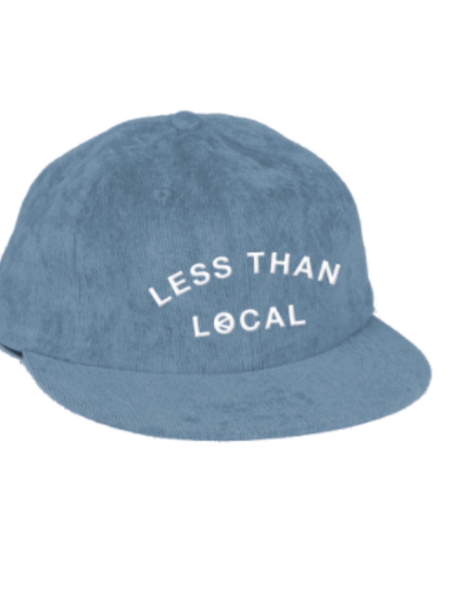 LESS THAN LOCAL LESS THAN LOCAL ARC LOGO BLUE CORD HAT