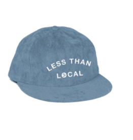 LESS THAN LOCAL LESS THAN LOCAL ARC LOGO BLUE CORD HAT