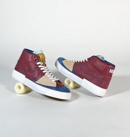 NIKE NIKE SB ZOOM BLAZER MID EDGE L - TEAM RED/NAVY-LIGHT CREW