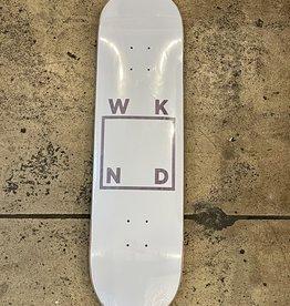 WKND - WHITE LOGO (ASSORTED VENEERS) DECK - 8.25