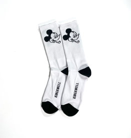 KINGSWELL KINGSWELL MOUSE SOCK - WHITE