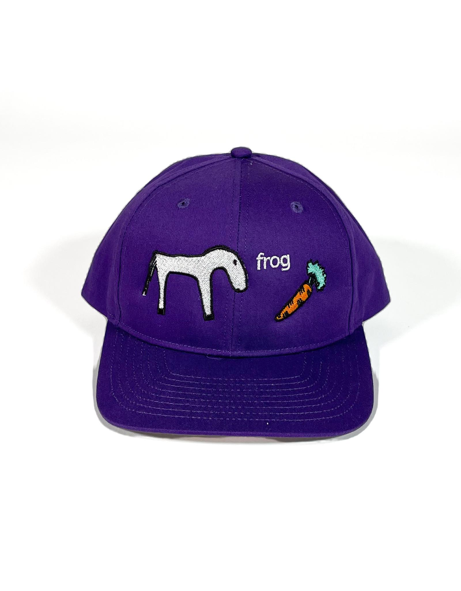 FROG FROG HORSE 5 PANEL HAT - PURPLE