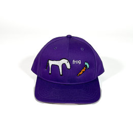 FROG FROG HORSE 5 PANEL HAT - PURPLE