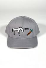 FROG FROG HORSE 5 PANEL HAT - SILVER