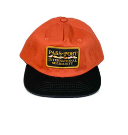 PASSPORT PASS-PORT INTER SOLID PATCH 5 PANNEL HAT - BROWN/BLACK
