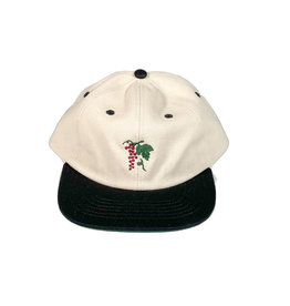 PASSPORT PASS-PORT LIFE OF LEISURE 6 PANEL HAT - BLACK/NATURAL