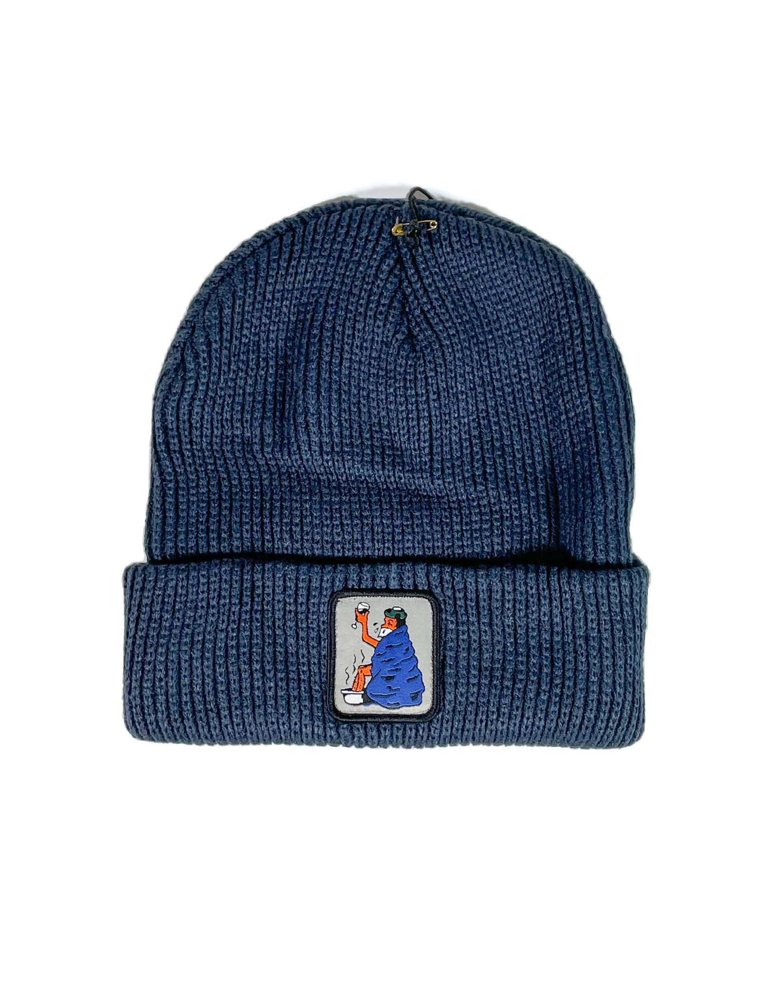 PASSPORT PASS-PORT COLD OUT BEANIE - NAVY
