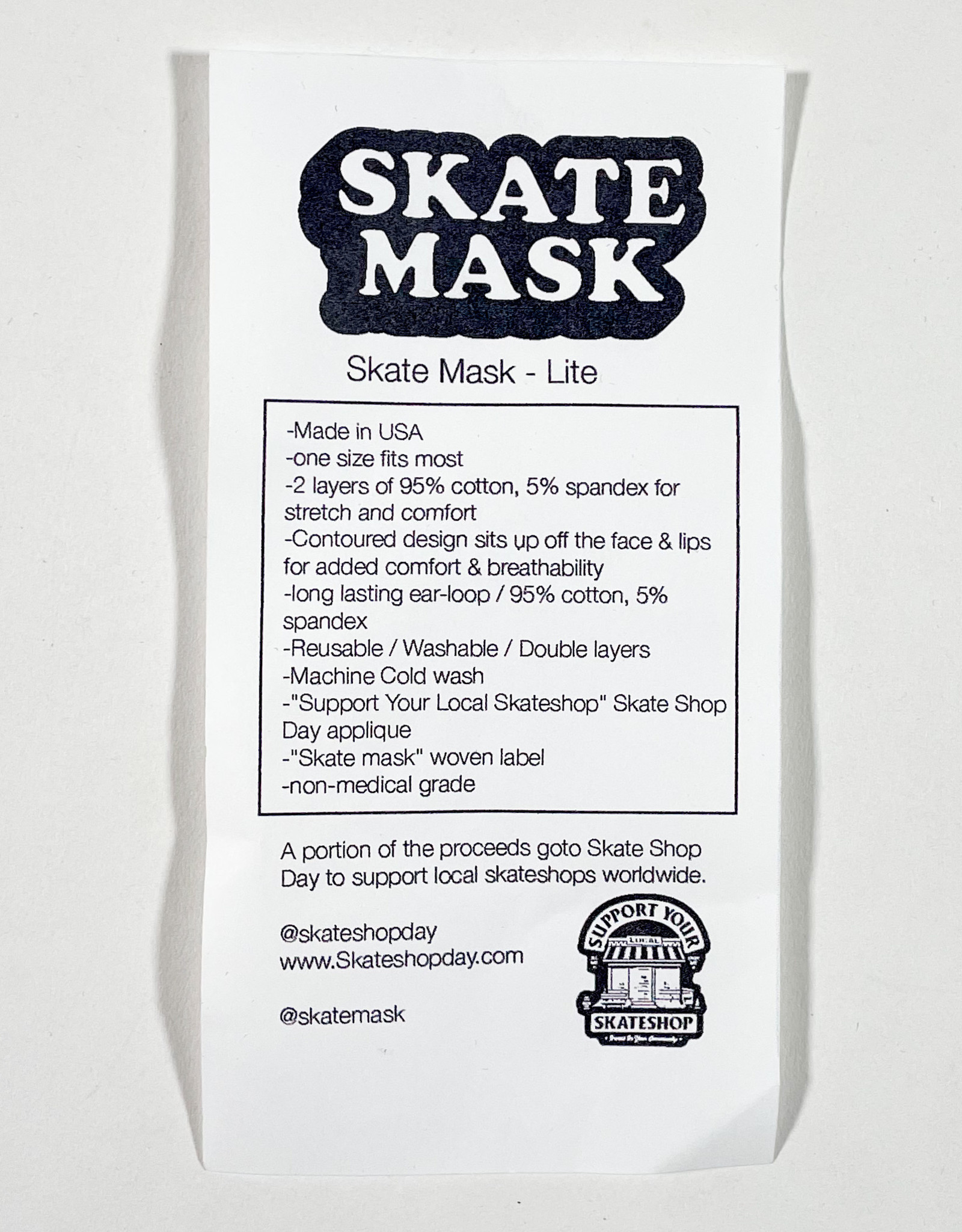 SKATE MASK -  SKATE SHOP DAY