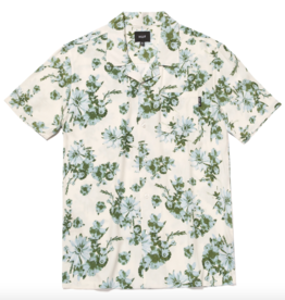 HUF DAZY S/S  BUTTON RESORT SHIRT - UNBLEACHED