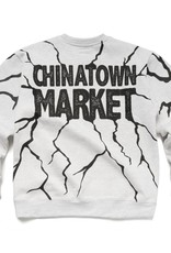 CHINATOWN MARKET CHINATOWN MARKET DRY WALL BREAKER CREWNECK - ASH GREY