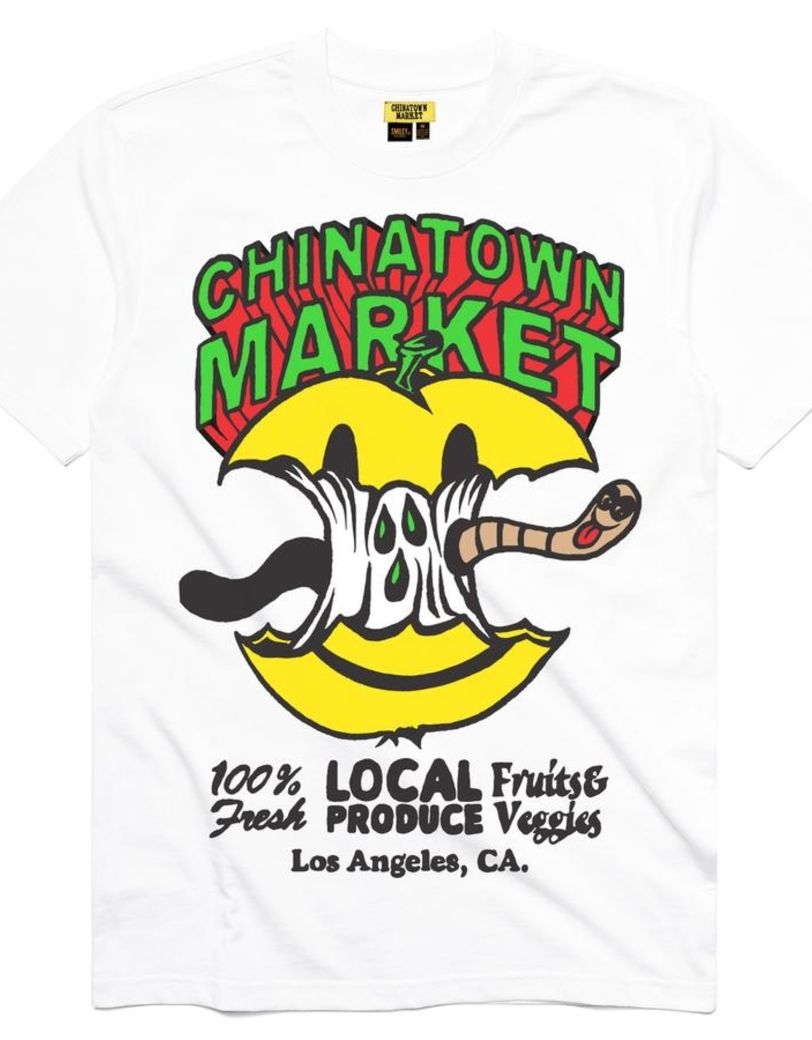 CHINATOWN MARKET CHINATOWN MARKET SMILEY LOCAL PRODUCE APPLE TEE - WHITE