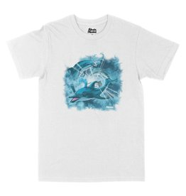 SKATE MENTAL HAPPY DOLPHIN TEE - WHITE