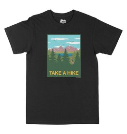 SKATE MENTAL TAKE A HIKE TEE - BLACK