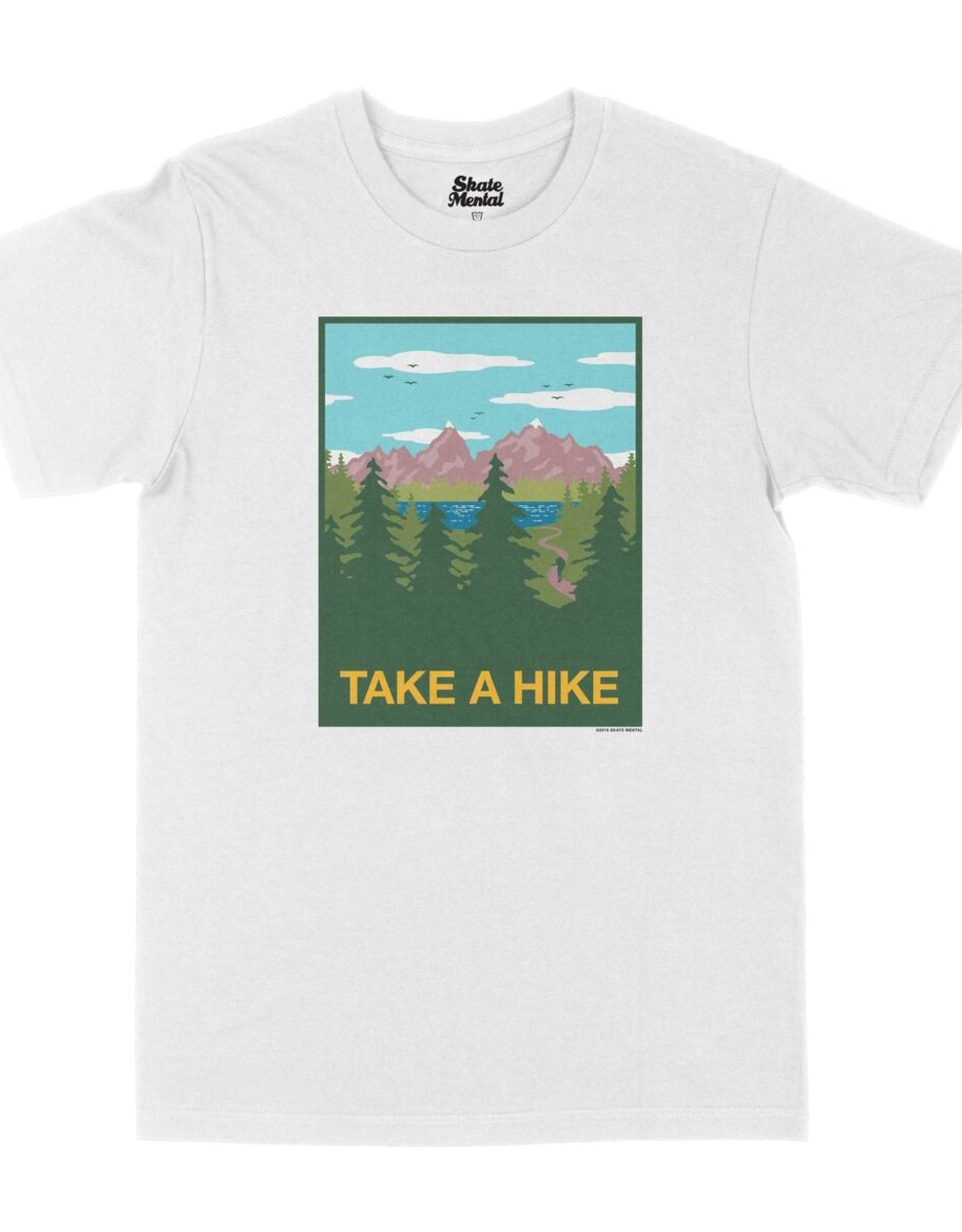 SKATE MENTAL TAKE A HIKE TEE - WHITE