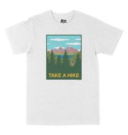 SKATE MENTAL TAKE A HIKE TEE - WHITE